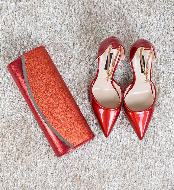 Women's fashion red shoes
